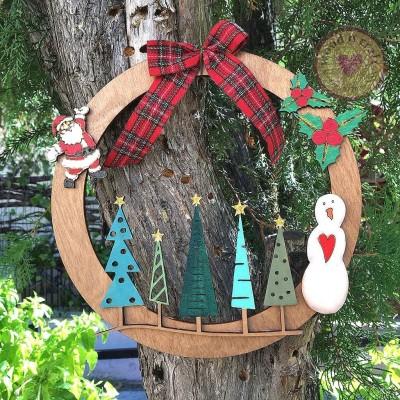 Χριστουγεννιάτικο στεφάνι - Elegant trees