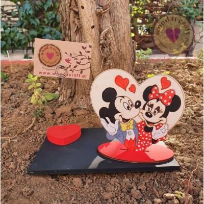 Σταντ φωτογραφίας - Mickey Couple in a Heart