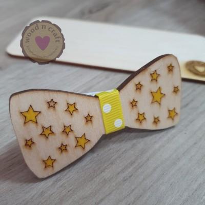 Ξύλινο Παπιγιόν - Little Stars