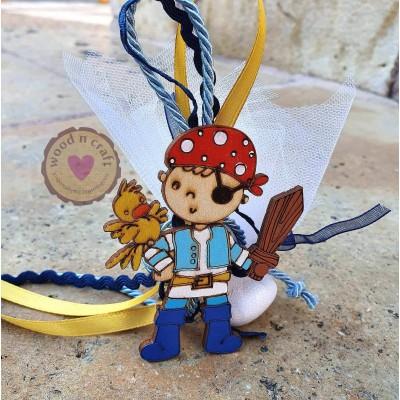 Κρεμαστή Μπομπονιέρα - Πειρατής Παιδάκι