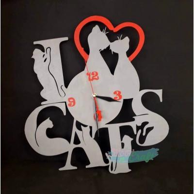 Ρολόι I Love Cats