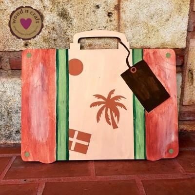 Ξύλινη Φιγούρα -  Βαλίτσα Ταξιδιού