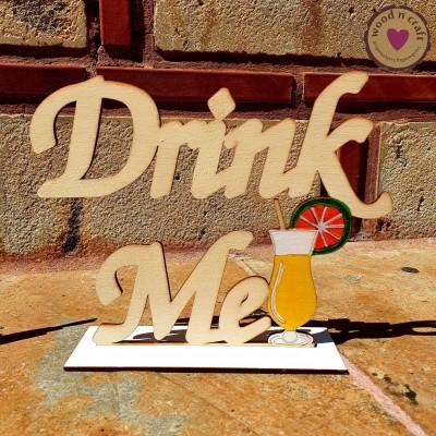 Ξύλινο Σταντ - Drink Me