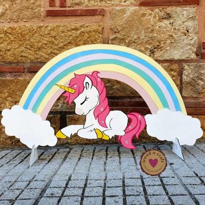 Ξύλινη Φιγούρα - Rainbow Unicorn