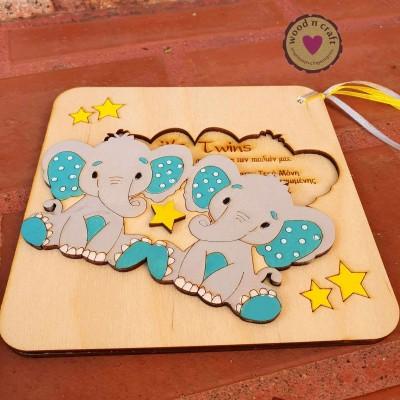 Προσκλητήριο Παζλ - Twin elephants