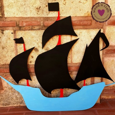 Ξύλινη φιγούρα - Καράβι με πανιά