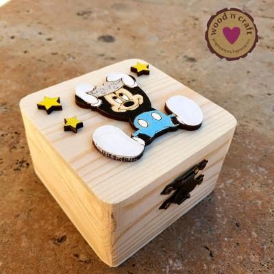 Μπομπονιέρα κουτάκι - Mickey baby prince