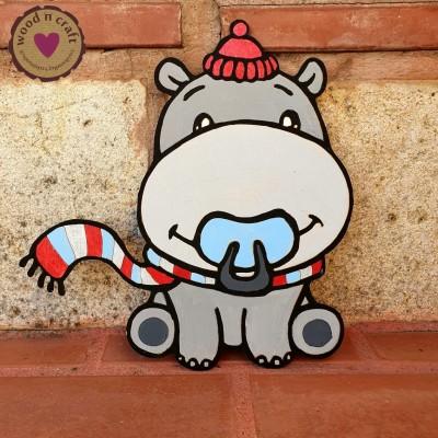 Ξύλινη Φιγούρα - Baby hippo