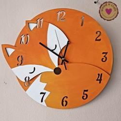 Ξύλινο Ρολόι - Αλεπού