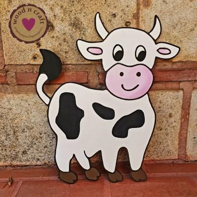Ξύλινη Φιγούρα - Αγελαδίτσα