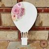 Ξύλινη Φιγούρα - Αερόστατο με λουλούδια