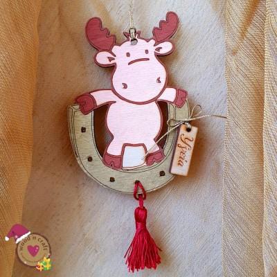 Ξύλινο στολίδι - Reindeer wishes
