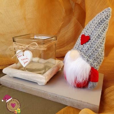 Χειροποίητο διακοσμητικό - Santa Gnome