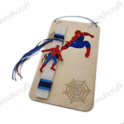 Λαμπάδα με βάση καδράκι - Spiderman