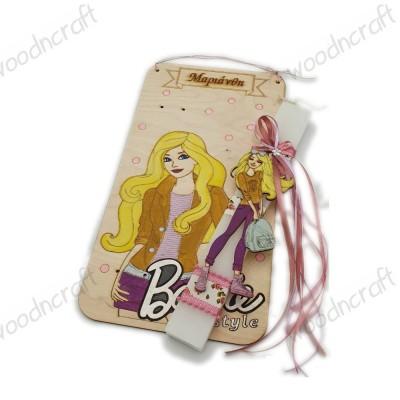 Λαμπάδα με βάση καδράκι - Barbie