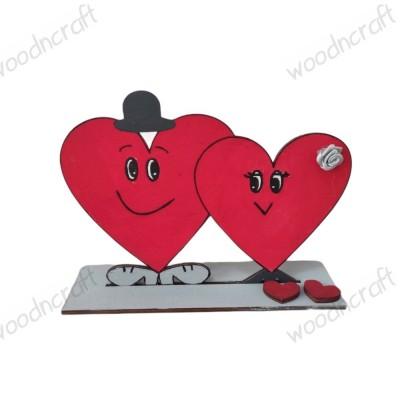 Ξύλινο διακοσμητικό - Mr & Mrs Heart