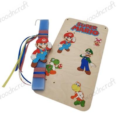 Λαμπάδα με βάση καδράκι - Super Mario