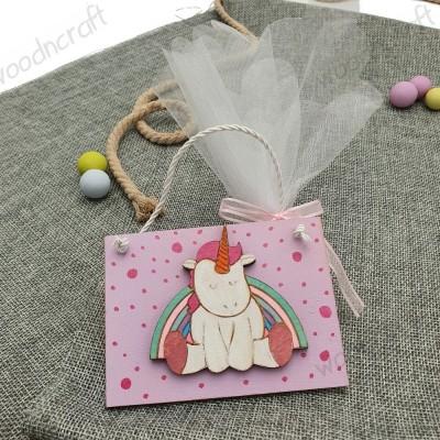 Μπομπονιέρα καδράκι - Rainbow unicorn