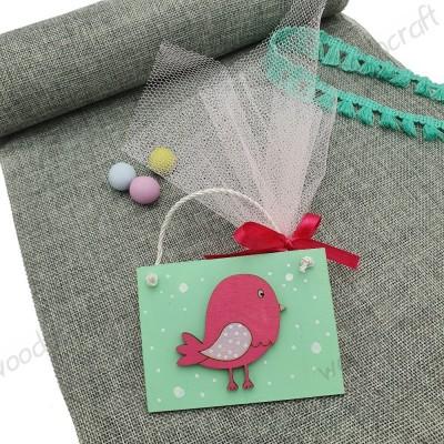 Μπομπονιέρα καδράκι - Romantic bird