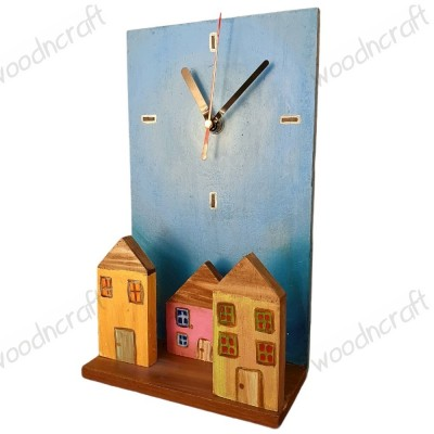 Χειροποίητο ρολόι - Wooden village