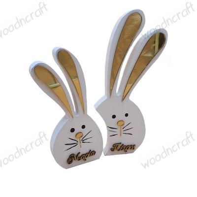 Ξύλινο διακοσμητικό - Mirror Rabbits