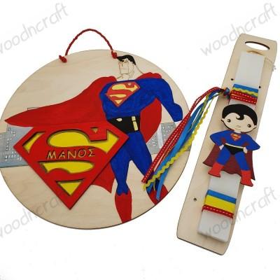 Λαμπάδα με διακοσμητικό κάδρο - Superman