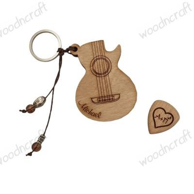 Χειροποίητο μπρελόκ - Πενοθήκη κιθάρα