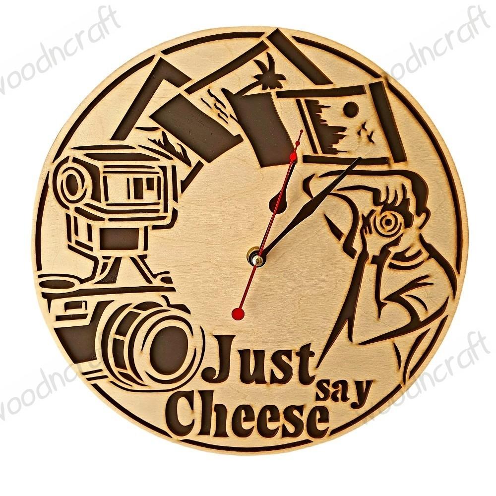 Ξύλινο ρολόι - Just say cheese