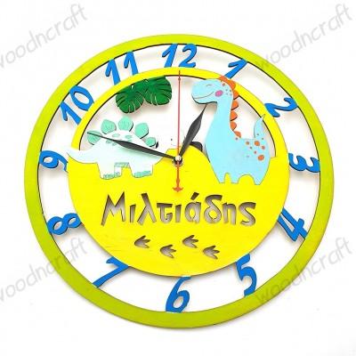 Ξύλινο ρολόι - Εποχή των δεινοσαύρων