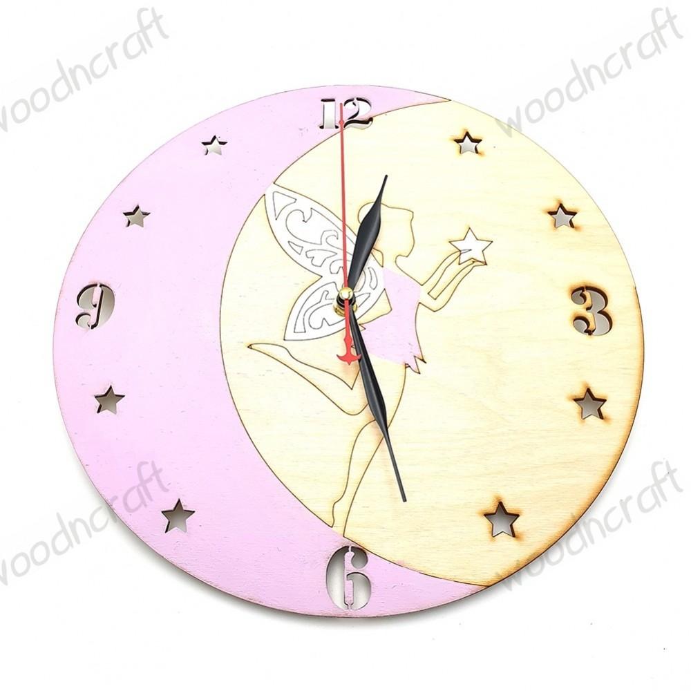 Ξύλινο ρολόι - Fairy moon