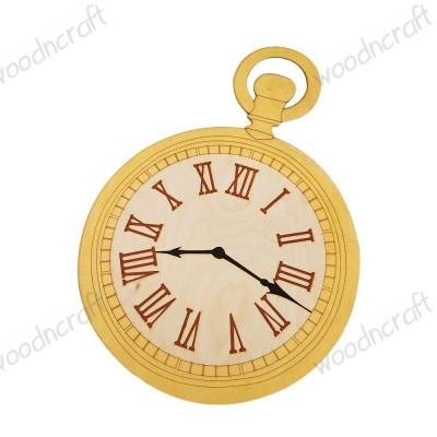 Ξύλινο ρολόι στολισμού - Alice in wonderland