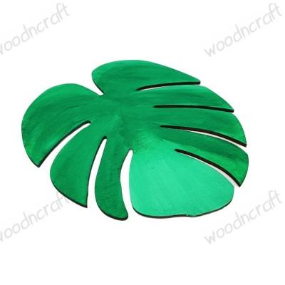 Ξύλινη φιγούρα - Τροπικό φύλλο