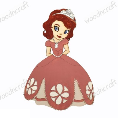Ξύλινη φιγούρα - Πριγκίπισσα Σοφία