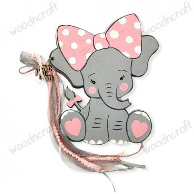 Βιβλίο ευχών - Ελεφαντίνα με φιόγκο