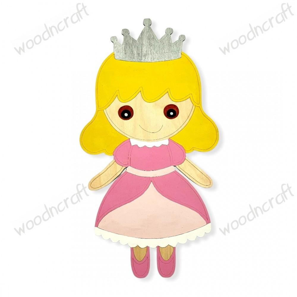 Ξύλινη φιγούρα - Μικρή πριγκίπισσα - Woodncraft.gr