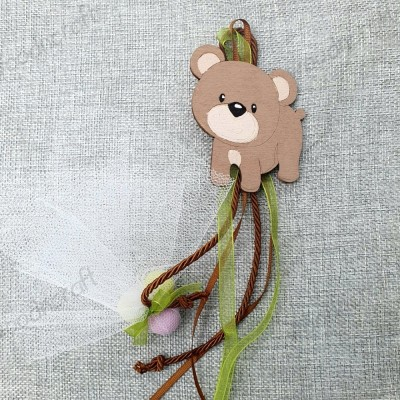 Κρεμαστή μπομπονιέρα - Μαγνητάκι αρκούδα - Woodncraft