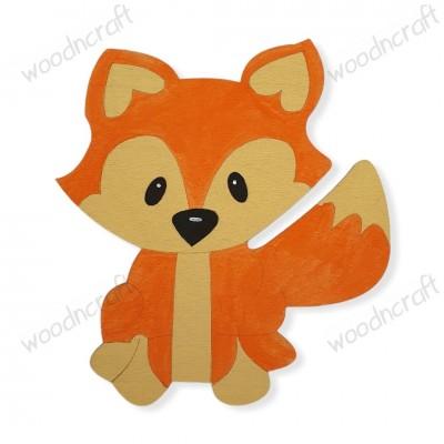 Ξύλινη φιγούρα - Αλεπού