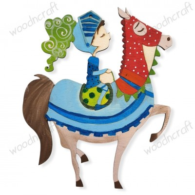 Ξύλινη φιγούρα - Ιππότης σε άλογο - Woodncraft