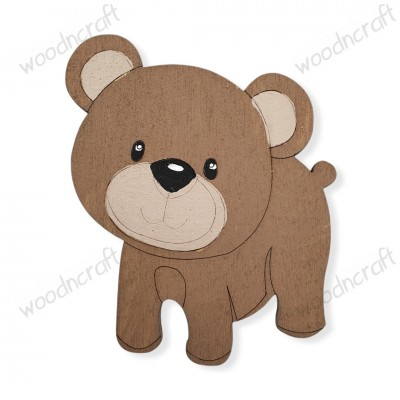 Ξύλινη φιγούρα - Αρκουδάκι