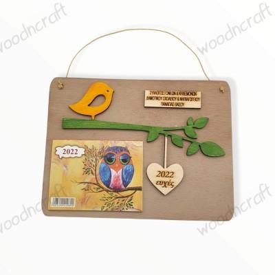 Ξύλινο ημερολόγιο - Wishes from a bird - Woodncraft.gr