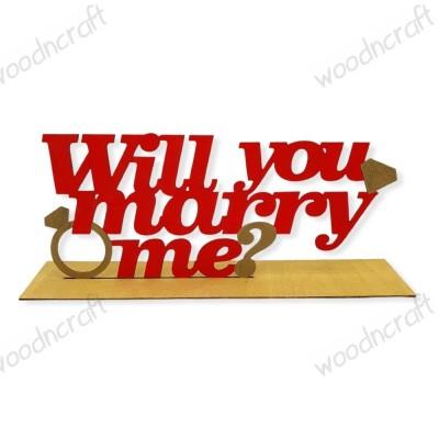 Ξύλινο διακοσμητικό - Will you marry me - Woodncraft.gr