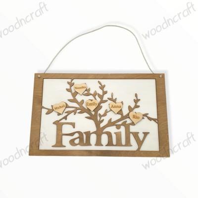 Ξύλινο κάδρο - Family tree - Woodncraft.gr