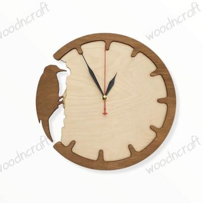 Ξύλινο ρολόι - Time to create - Woodncraft.gr