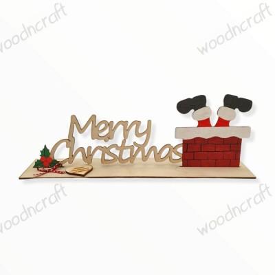 Χριστουγεννιάτικο διακοσμητικό - Santa Claus arrived - Woodncraft.gr