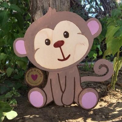 Ξύλινη Φιγούρα Μαϊμού
