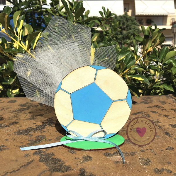 Επιτραπέζια Μπομπονιέρα Μπάλα Ποδοσφαίρου