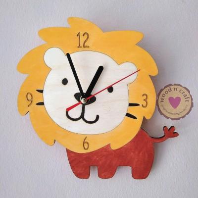 Ξύλινο Ρολόι Λιοντάρι
