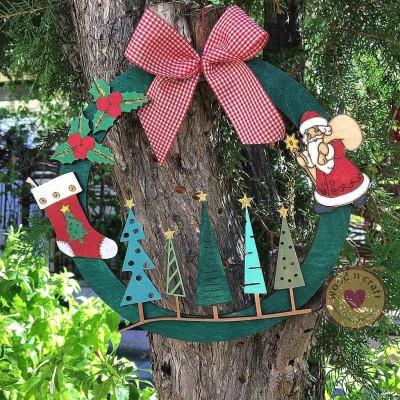 Διακοσμητικός Κρίκος με Χριστουγεννιάτικα Στολίδια